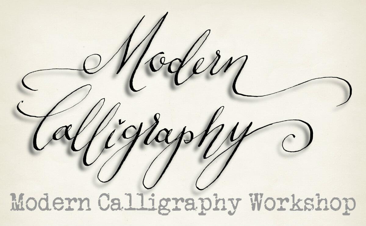 Modern calligraphy strelley hall arts