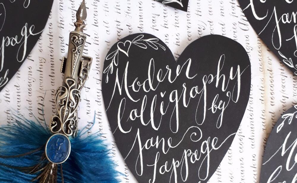 Modern calligraphy in long eaton arts