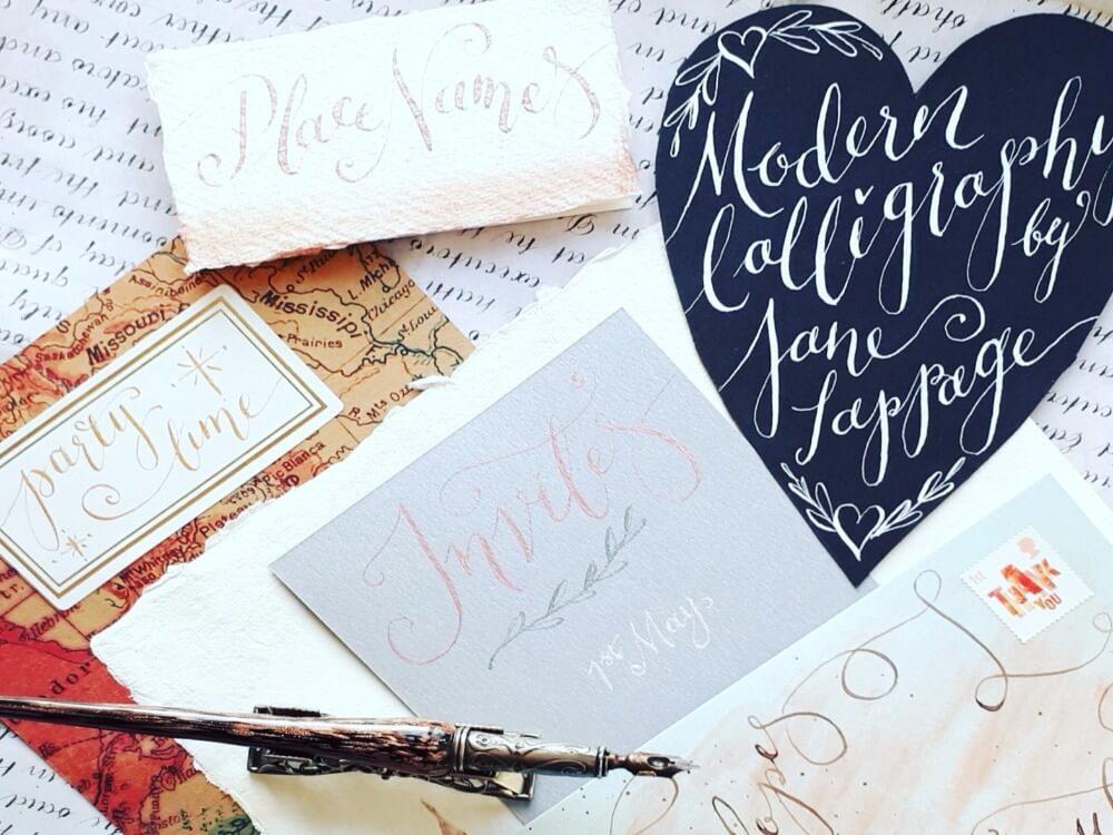 Modern calligraphy denman college arts